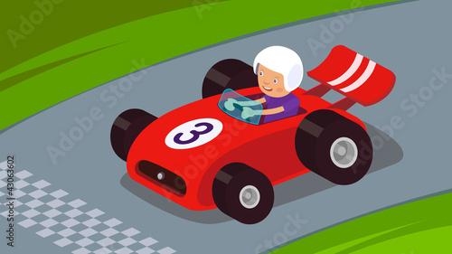 Keuken foto achterwand Cars Race Car