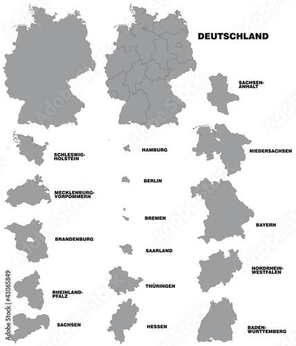 Fotografie, Obraz  Deutschland und Bundesländer