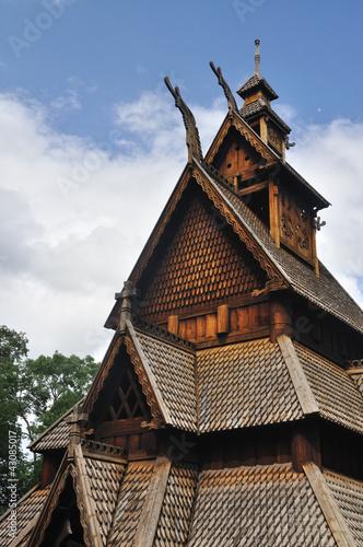 Photo  Gol stave church in Folks museum Oslo