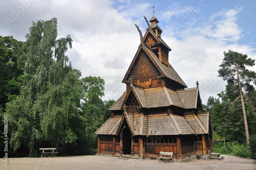 Photo  Gol stave church in Folks museum Oslo
