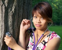 Tree Hugger With Stethoscope