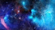 Nebula Gas Cloud In Deep Outer...