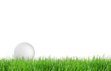 Close-up Of Golf Ball With Gre...