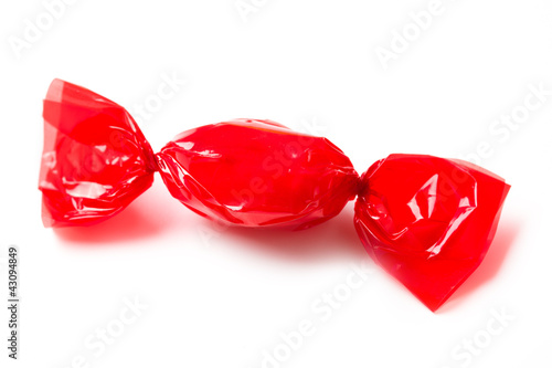 Fotografie, Obraz  red candy wrapped in foil