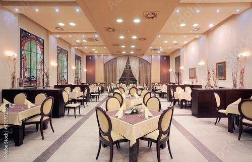 Fotobehang Restaurant Modern hotel restaurant interior