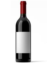 Bouteille De Vin Rouge Sur Fond Blanc 1