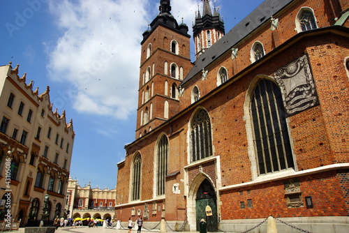 St Mary's Church, Mariacki, Market Square in Cracow, Poland