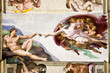 Leinwanddruck Bild - Creation of Adam by Michelangelo, Sistine Chapel, Rome