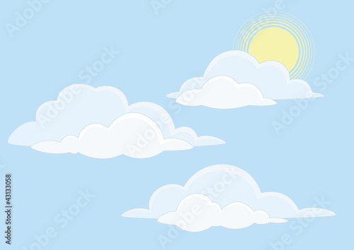 Poster Ciel Sky with clouds