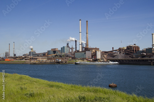 Fotografie, Obraz  Industry with smoking chimneys