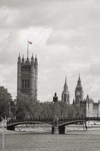 Foto op Canvas Londen London skyline, Westminster Palace, Big Ben and Victoria Tower