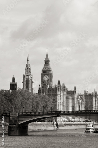 Fototapety, obrazy: London skyline, Westminster Palace, Big Ben and Victoria Tower