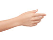 canvas print picture - Empty open woman hand on white background