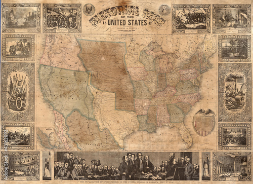 USA 1847 Canvas Print