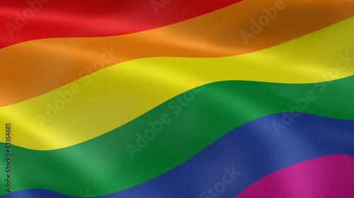 Gay pride flag Canvas Print