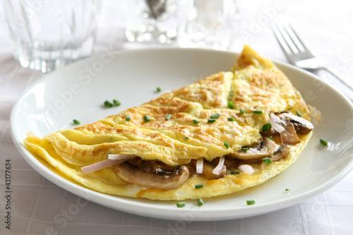 Fotografía  Mushroom Omelette