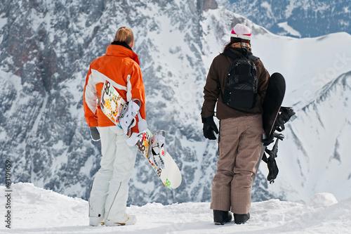 Foto auf AluDibond Wintersport Snowboarder