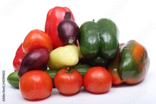 Obraz Warzywa na białym tle. - fototapety do salonu
