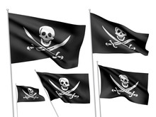 Jolly Roger Vector Flags (Calico Jack Rackham)