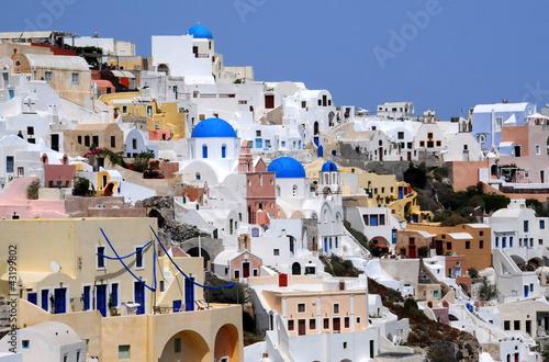 Naklejka dekoracyjna View of Oia Village of Santorini Archipelago