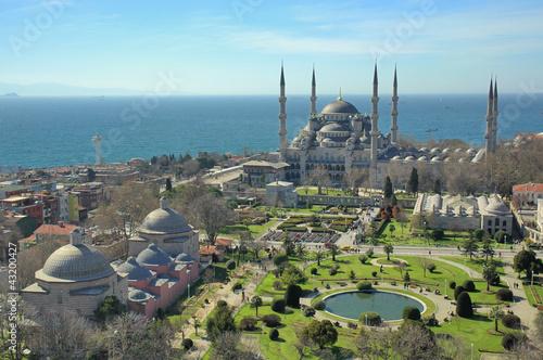 Printed kitchen splashbacks Turkey Blue Mosque Square- Sultanahmet Meydani Istanbul