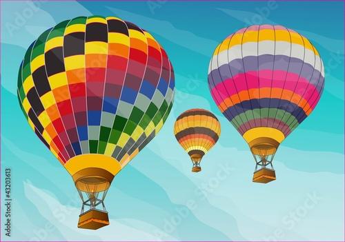 hot air balloon color Poster Mural XXL