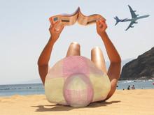 Beach Scene. Playa Teresitas. ...