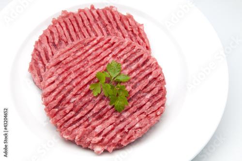 Spoed Foto op Canvas Klaar gerecht hamburguesas