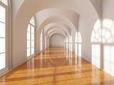 Fototapeta Do przedpokoju - Modern long corridor