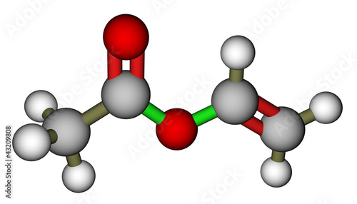 Fotografering  Vinyl acetate 3D molecular structure