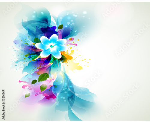 Photo Stands Floral woman Background Abstract