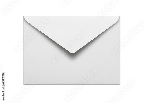 Pinturas sobre lienzo  Blank envelope isolated on white background with clipping path