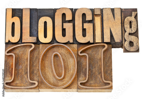 blogging 101 in wood type Canvas Print