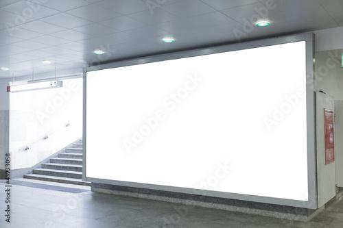 Obraz Blank billboard in  hall - fototapety do salonu