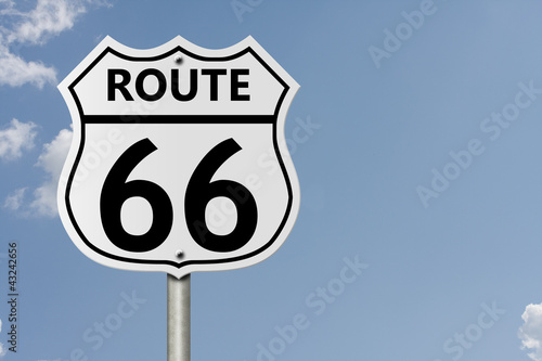 Taking route 66 Poster