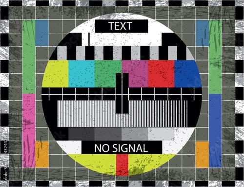 Fotografía  tv color test screen on grunge background - illustration