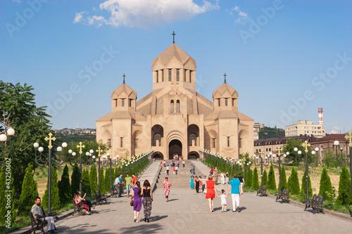 Saint Gregory the Illuminator Cathedral in Armenia , Yerevan Canvas Print