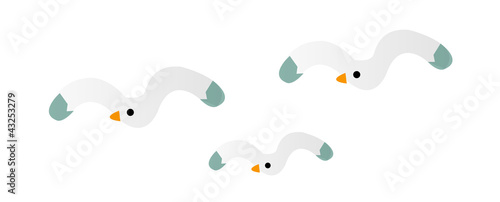 Fotografia vector icon seagull