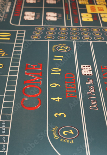 Photo Come Line on Craps Table