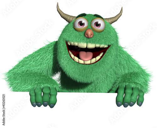 Poster de jardin Doux monstres Monster