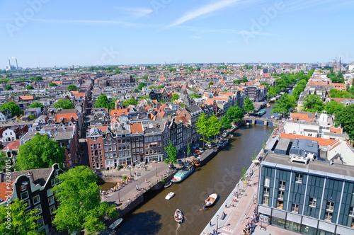 View from Westerkerk, Amsterdam, Netherlands Wallpaper Mural