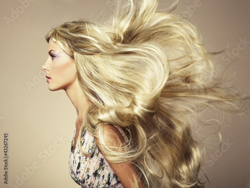Fotografie, Obraz  Photo of beautiful woman with magnificent hair