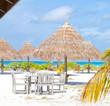 Beautiful tropical white sand beach of Maldives
