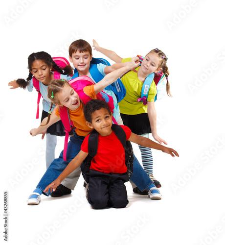 Fototapeta school aged kids obraz na płótnie