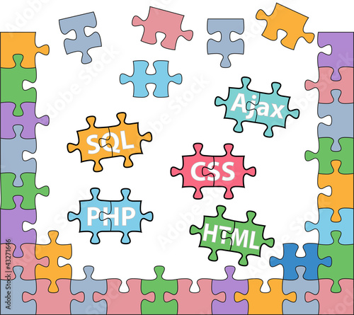 Photo  Web development puzzle HTML PHP solutions