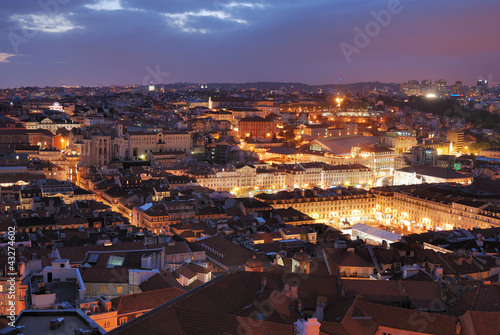 View over Rossio in Lisbon Wallpaper Mural