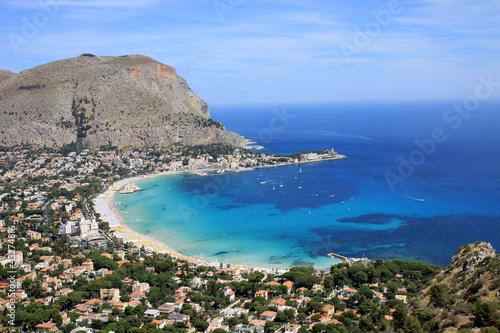 Foto-Schiebegardine Komplettsystem - Mondello bay - Sicilia - Italy