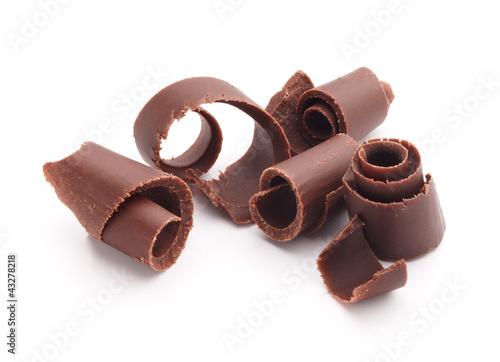 Foto op Aluminium Snoepjes chocolate curls