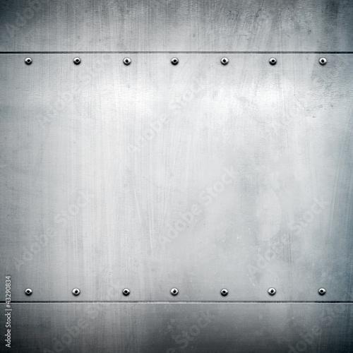Türaufkleber Metall metal plate