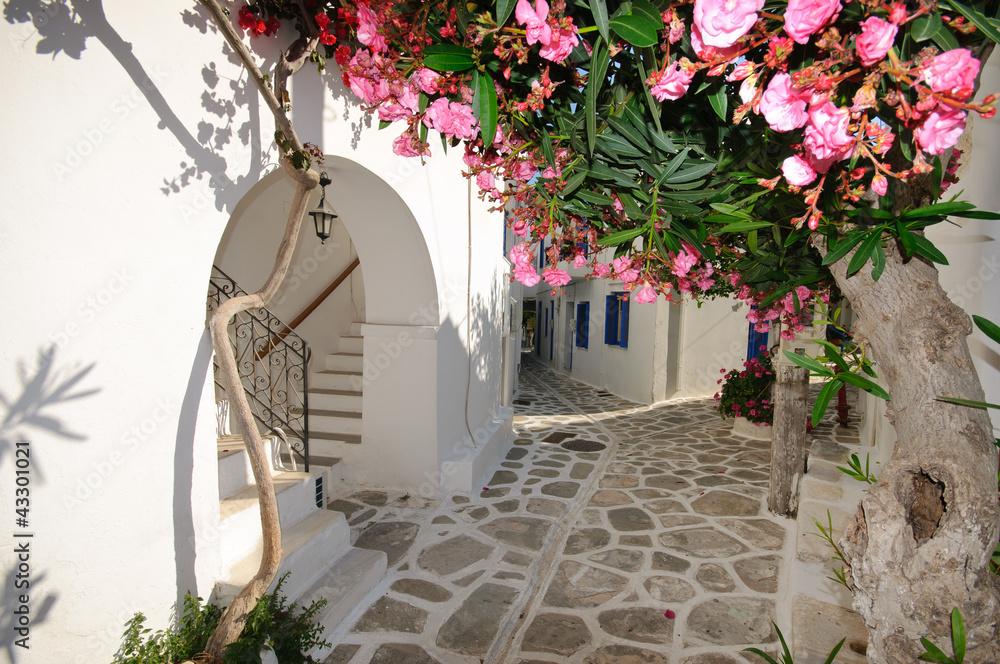 Fototapety, obrazy: Small backstreet on Amorgos island, Greece